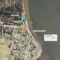 Larger Swim and run Map